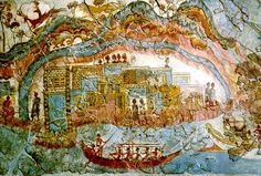 Flotilla, Miniature Ships Fresco (detail), from Room 5, West House, Thera, c. 1650 B.C.