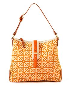 Look at this Spartina 449 Orange & White Prestwick Buckle Hobo on #zulily today!