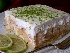 Prajitura fara coacere cu piscoturi, iaurt, frisca si lamaie - Vis cu lamaie | Savori Urbane Romanian Food, Deserts, Lime, Appetizers, Cheesecake, Sweets, Recipes, Cakes, Kuchen