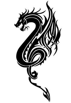So here is the Dragon tatt design I said I was working on . This is my first design done with my new Tablet and Photoshop. My other 2 dragon designs h. The Dragon III Dragon Tatoo, Tribal Dragon Tattoos, Small Dragon Tattoos, Dragon Tattoo Designs, Tattoo Drawings, Body Art Tattoos, Cool Tattoos, Tatoos, Chinese Tattoo Designs