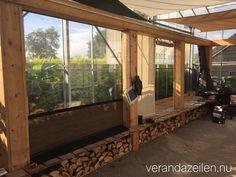 VERANDAZEILEN UNIEK MET ADEMENDE Outdoor Curtains For Patio, Screened In Patio, Pergola Patio, Backyard Landscaping, Outdoor Decor, Gazebo Decorations, Patio Enclosures, Outdoor Cover, Garden Buildings