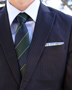 Head to toe in @cotton_brew (a new made-to-measure suit maker for men). Loving this tie/square combo! What do you think??