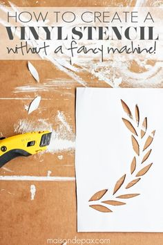 how to make a stencil no costly gadgets required craft ideas