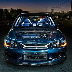 mitsubishi lancer evolution ix - Mitsubishi Evo 9 Blue