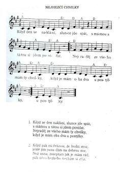Nejhezčí chvilky - vítání občánků Sheet Music, School, Music Sheets