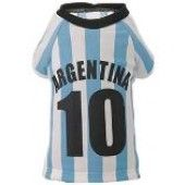 Argentina football top for dogs. For the more macho of the pampered pets :-)  www.calvinknine.com