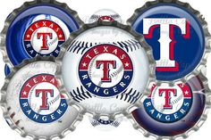 #DIY jewelry/Crafts Texas Rangers Digital Bottle Cap Images INSTANT Download $2.00