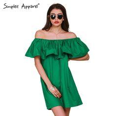 Simplee Apparel Ruffles slash neck women dress Summer style off shoulder sexy dresses vestidos White tube beach dress cotton $47.99   #dress #style #model #stylish #sweet #instalike #instafashion #love #streetstyle #fashion #pretty #shopping #ootd #glam #cute