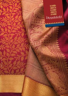 Can any saree tell you story? But this kancheevaram saree comes with a story in style. The deep plum uppadah saree with lovely creepers spreading joyfully after the season and the annam in the pallu is so content and delightful after its admirable succinct. #Utppalakshi #Sareeoftheday#Silksaree#Kancheevaramsilksaree#Kanchipuramsilks #Ethinc#Indian #traditional #dress#wedding #silk #saree#craftsmanship #weaving#Chennai #boutique #vibrant#exquisit #pure #weddingsaree#sareedesign #colorful…