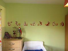 Calvin & Hobbes #kidsroom #painted #border