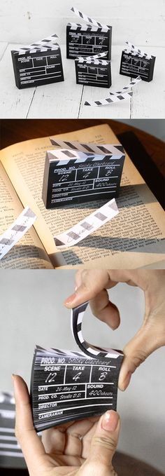 Ready, set, action! Clapperboard sticky notes to help you fulfill all your filmmaking (or note taking) dreams!