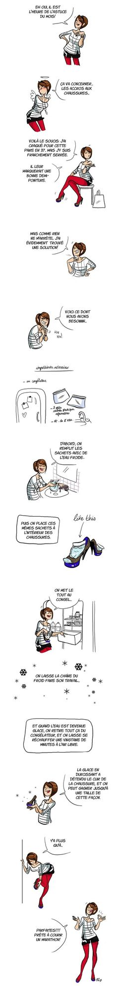 comment agrandir tes chaussures Tips & Tricks, Good To Know, Me Too Shoes, Life Hacks, Beauty Hacks, Funny, Cool Stuff, Iceberg, Solution