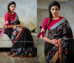 Stylish Blouse Ideas That Can Make Your Saree Look Chic Blouse Back Neck Designs, Simple Blouse Designs, Stylish Blouse Design, Saree Blouse Patterns, Saree Blouse Designs, Block Print Saree, Sleeves Designs For Dresses, Simple Sarees, Saree Trends