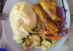 Provance csirkecomb sült zöldségekkel   Viktória M receptje - Cookpad receptek Chicken, Ethnic Recipes, Food, Essen, Meals, Yemek, Eten, Cubs
