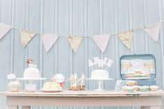 darling first birthday girl's party- love vintage feel + the simple layout