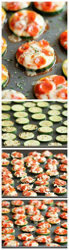 Mini pizzas de calabacín ¡Qué rico!  Otra forma divertida para que los peques coman verdura   #Minipizzas #calabacín