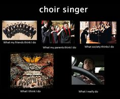 Interesting how this one is closest to real life except I don't sing in the car very often.