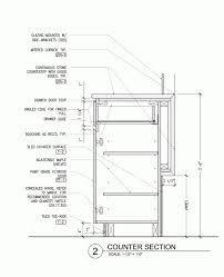 Image result for reception desk section detail drawing ...