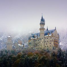Neuschwanstein Castle in Bavaria,Germany.  Was there in the 50's and again in the 70-80's