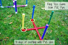 Super carnival games for kids party schools pvc pipes 27 ideas Carnival Games For Kids, Kids Party Games, Diy Games, Spy Party, Luau Party, Angry Birds, Pvc Pipe Crafts, Pvc Pipe Projects, Tic Tac Toe