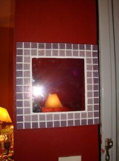 espejo con mosaicos