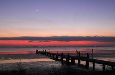 Conjunction at Dawn over Tuggerah Lake