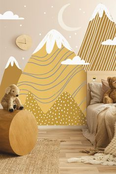 Mont Blanc Wall Decals Mountain Wall Decal Mountain Wall | Etsy Playroom Decor, Baby Room Decor, Playroom Quotes, Playroom Table, Kid Playroom, Playroom Furniture, Playroom Organization, Wall Decor, Playroom Ideas