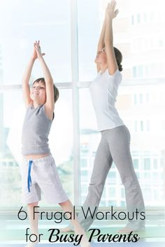 6 Easy, Frugal Workout Ideas for Busy Moms & Dads. You *CAN* still workout, even with kids in tow!