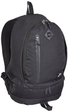 """Nike Cheyenne 2000 Classic (Black/Black/Silver). Adjustable, padded shoulder straps. Easy-access zip pocket. Functional organization system. Padded laptop sleeve. Separated shoe or wet/dry storage. Stabilizing sternum strap. Corporate woven label branding. Dimensions: 20""""HX12""""WX6.5'D/1526CU.IN. Highly-durable 600D Cordura® polyester. Tough 800D nylon. Adjustable, padded shoulder straps. Easy-access zip pocket. Functional organization system. Padded laptop sleeve. Separated shoe or wet/dry..."""