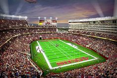 New San Francisco 49ers 69,000+ seat Santa Clara stadium. Stadium will host a wide range of events and is expandable for major events such as the Super Bowl. www.LevisStadium.com