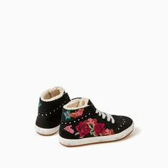 Image 5 of EMBROIDERED LINED HIGH TOP SNEAKERS from Zara