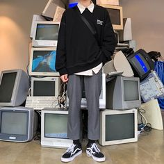 Fashion outfits mens street styles 49 ideas Source by outfits mens Korea Fashion, 80s Fashion, Asian Fashion, Trendy Fashion, Fashion Outfits, Fashion Trends, Cheap Fashion, Style Fashion, Streetwear Mode