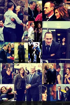 Montage of Chris and Mariska on set. They're hilarious together!