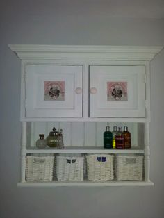Vintage-style Bathroom storage cabinet #Anniesloan