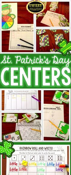 Seven Kindergarten literacy centers with a St. Patrick's day/rainbow/blarney stone/pot of gold/leprechaun theme.  Use for the whole of March and beyond!  $6.00