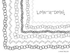 This set includes 6 black dot frames. Download the free preview for a close look at the frames included in this set! You may use the frames for...
