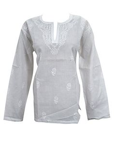 Women's Peasant Tunic Tops Floral Embroidered White Boho Hippie Summer Blouse L Mogul Interior http://www.amazon.com/dp/B012A6Q8R0/ref=cm_sw_r_pi_dp_09.Rvb1F2YT6Y