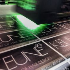 UV print at brushed steel. #keune #adsive