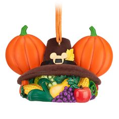 Mickey Mouse Ear Hat Ornament - Thanksgiving   Ornaments   Disney Store