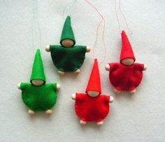four small gnomes wood pearl gnomes measurement: approx. 7 cm colours: 1 x du ., The Most Famous Antagonists That Did valentines Day For Kids In Movies Valentine's Day is , Valentine Day Crafts, Felt Crafts, Diy And Crafts, Christmas Crafts, Christmas Decorations, Felt Christmas Ornaments, Handmade Christmas, Christmas Time, Felt Animal Patterns