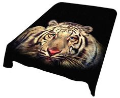 New White Tiger Plush Mink Blanket