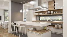 małe kuchnie aranzacje | kuchnia-biel-szarosci-657x370