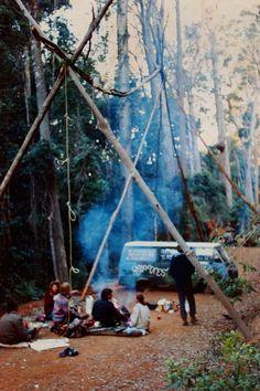 Camping & vans & hippies & stuff.