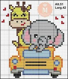 Disney Cross Stitch Patterns, Cross Stitch For Kids, Cross Stitch Animals, Plastic Canvas Crafts, Plastic Canvas Patterns, Easy Perler Bead Patterns, Animal Faces, Christmas Cross, Crochet For Kids