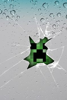 Customize Your Iphone 5 With This High Definition Creeper Busting Through Your Phone Screen Wallpaper From Hd Phone Wallpapers