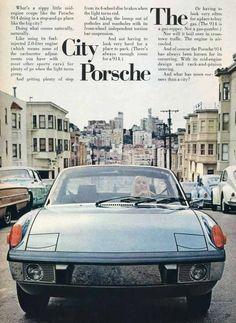 Porsche 914 ad. Shot in San Francisco.