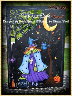 Witches Boot - email pattern packet by Sharon Bond by PaintingWithFriends on Etsy