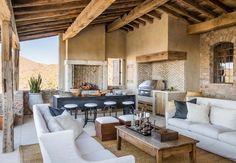 Mediterranean-style dream home with rustic interiors in the Arizona desert
