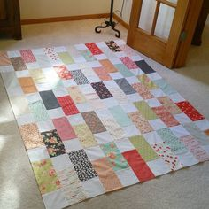 09.28.16 Well this happened today.  My first Fall quilt top done.  More back therapy. 😉 The #picketfencequilt was fun and fast, considering I only worked on it a bit at a time.  I love the cozy fall colors and hope to get this basted and quilted soon to enjoy.  I will take a better picture when quilted.  #farmhousefabric by #figtreeandco.  I used a layercake - 30 squares cut in half to make mine a little bigger.  Fabric and pattern from #fatquartershop.  #fallquilt