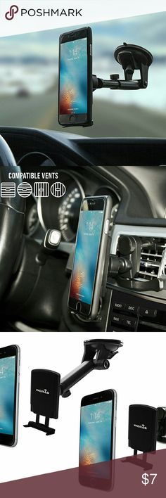 🆑EARANCE! Dual Car Mount Windshield Air Vent *ASK FOR DISCOUNTED SHIPPING!*  AIR VENT AND WINDSHIELD - built to last, with 2 metal pads included for extra security and to use with more devices,1 Outer Plate and 1 Inner plate in the package.  *BUNDLE WITH OTHER ITEMS FOR DISCOUNT & MAKE A OFFER ON BUNDLE!* Other